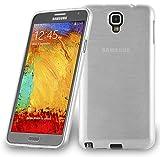 Cadorabo Hülle für Samsung Galaxy Note 3 Neo - Hülle in Silber – Handyhülle aus TPU Silikon in gebürsteter Edelstahloptik (Brushed) Silikonhülle Schutzhülle Soft Back Cover Case Bumper