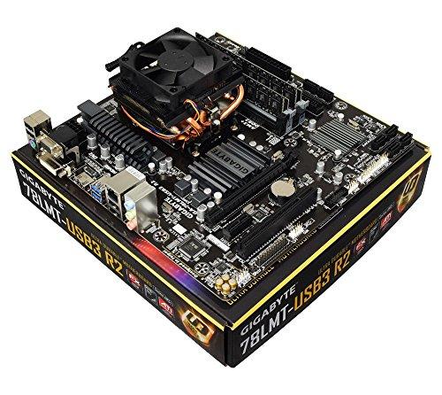 AMD FX-63006Core 3,5GHz (Turbo to 4.1GHz), Gigabyte GA-78LMT-USB3HDMI Motherboard-kein RAM-vormontiert/vorkonfiguriertes Komponenten-Bundle 32GB RAM