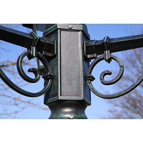 vidaXL Gartenlaterne 215 cm Romantico 60 Watt Dunkelgrün - 5
