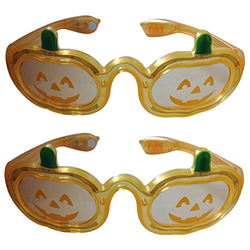 ED Kostüm Brillen Party Blinkende Brille in Kürbis Form (Light Up Kürbis Dekorationen)