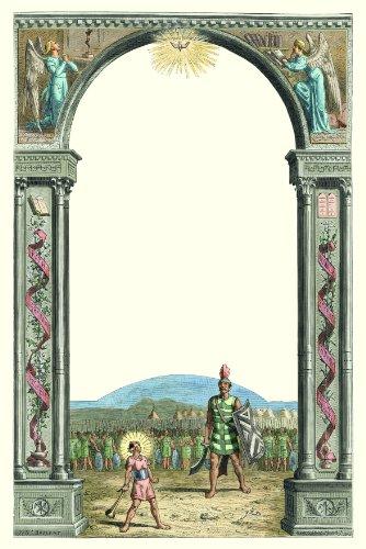 3 Schreibblöcke im Set, 4farbig, Motive: David + Goliath, Paulus, Tecla
