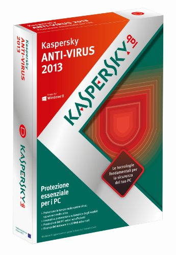 Kaspersky AntiVirus 2013 Italian Edition. 1-Desktop 1 year Base Box