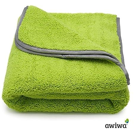 awiwa Hundehandtuch Extra saugfähig aus Microfaser für große und Kleine Hunde