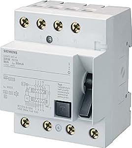 Siemens–Interrupteur différentiel 70mm clase-a 3pôles + neutre 63A 300mA