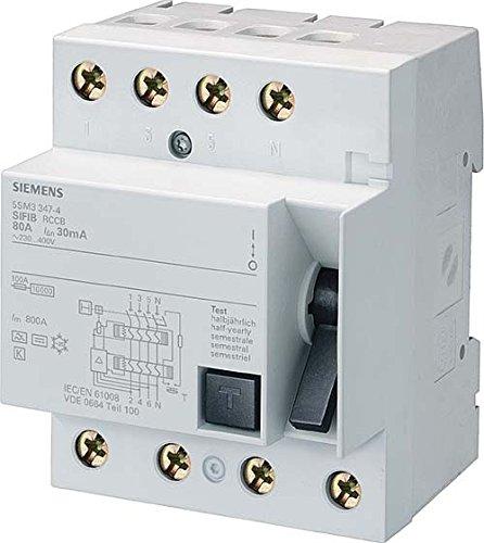 Siemens 5SM3346-4 4P Gris alimentación del relé - Relé de potencia (50/60,...