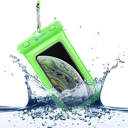 Power Theory wasserdichte Handyhülle - Wasserfeste Handytasche Handyschutz Cover Beutel Beachbag Tasche Handy Hülle Waterproof Case - iPhone X/XS 8 7 6s Samsung S10 S9 S8 S7 und viele mehr (Grün) (6 Unterwasser-kamera-iphone)