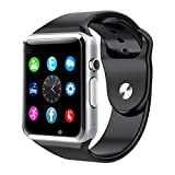 #9: A1 Bluetooth Waterproof And Gsm Sim Phone Smart Watch For Android, Ios, Smart Phones (Black)