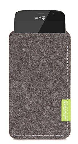 WildTech Sleeve für Doro Liberto 825 Hülle Tasche - 17 Farben (Handmade in Germany) - Grau