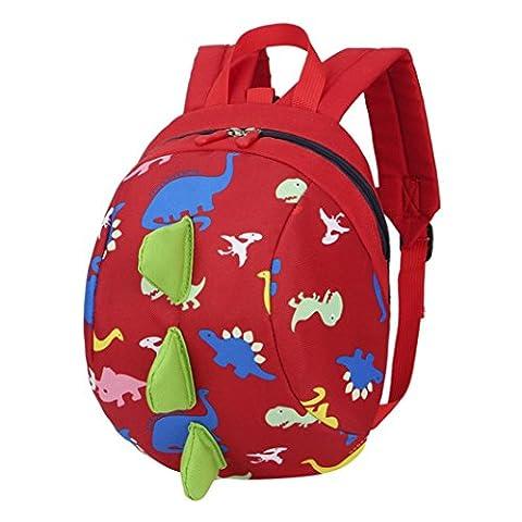 School Bags, SHOBDW Baby Boys Girls Kids Cute Dinosaur Pattern Animals Backpack Toddler School Bag (20 x 12 x 26cm,