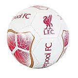 Liverpool FC Wappen Design White Prism Fußball (Größe 5) (Rot/Weiß)