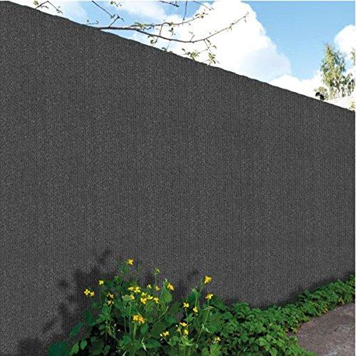 PEGANE Brise Vue, Toile HDPE 300gr au m2 en PVC Double Face en Rouleau de 3 m Coloris Gris Anthracite, 2,00 m x 25 m