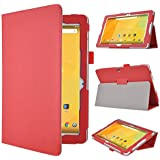 IVSO Acer Iconia One 10 B3-A30 Funda Case - Slim-Book Case Funda Protectora de Cuero PU para Acer Iconia One 10 B3-A30 10.1'' Tablet(Rojo)