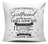 To My Gorgeous Girlfriend I Love You Cushion Cover