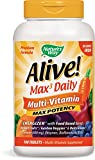 Nature's Way Alive! Premium Formula Max3 Daily Multi-Vitamin, No Iron Added, 180 Tablets