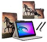 Tablet 10.1 Zoll Hülle für Jay-tech TXE10DW2 Schutzhülle Etui Case mit Touch Pen & Standfunktion - Pferd 360