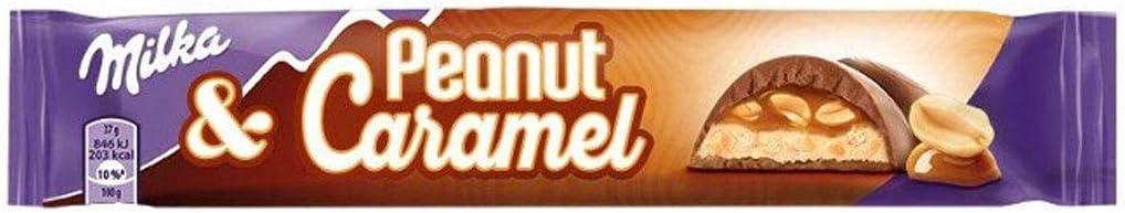 24x Milka Peanut & Caramel Riegel á 37g=888g MHD:20.8.18