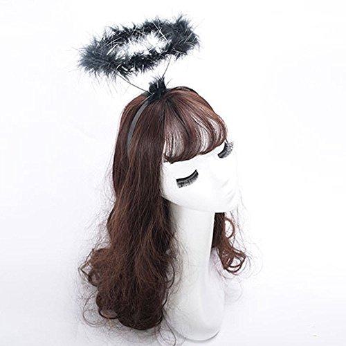 Angels Fancy Dress - Stirnband Damen Liusdh Flauschiges Halo Angel