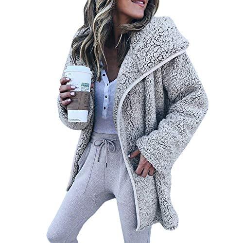frauen motorradkombi VEMOW Heißer Elegante Damen Frauen Freizeitjacke Winter Warme Parka Outwear Casual Täglichen Freizeit Coat Mantel Außenmantel(X1-Grau, EU-42/CN-XL)