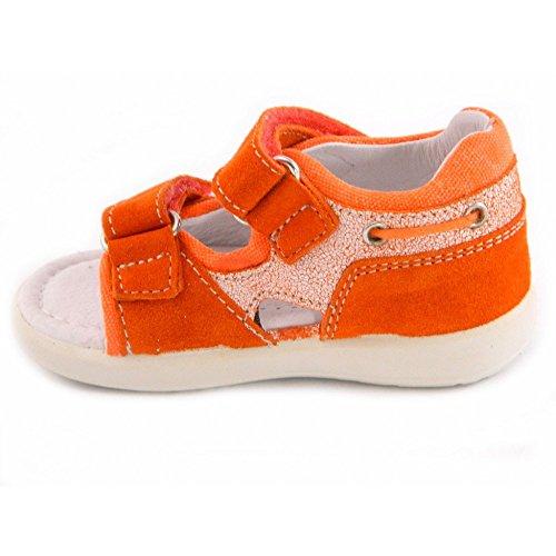 Falcotto - Naturino Falcotto Sandales Pour Petit Garçon Cuir Velcro bleu 1177 Orange