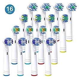 iTrunk Pacco da 16 Testine per Oral b, Compatibili con Pro 5000 Pro 6500, 4 Testine per una Pulizia di Precisione, 4 con…