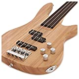 Guitare Basse Fretless Chicago Naturel par Gear4music