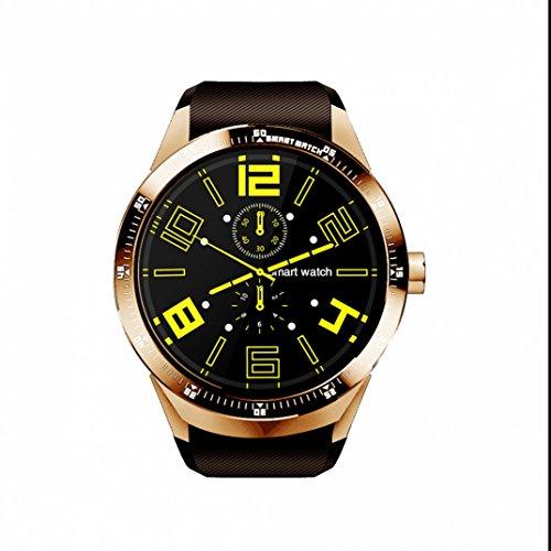 Smart Watch Sport Uhr Bluetooth Fitness Tracker,Musik Kamera Steuerung handy uhr,LED Dimmbarer Projektion Dual-Wecker Schrittzähler für Android/sony/apple/ios