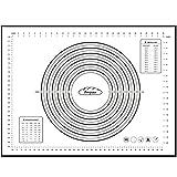 PEGZOS XX-Groß Silikon Nonstick Backmatte - Fondant Gebäck Teigmatte, (80*60cm, 60*40cm) (Schwarz-Weiss, XX-Groß)