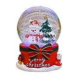 Weihnachten Crystal Ball Music Box Re mit Rentier und Pferdeschlitten-Glaskugel San Francisco Music Box Company Schwimmender Schnee mit Lichtern