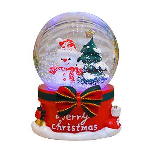 ALIAN Christmas Crystal Ball Music Box, Rotante Automatico A Fiocco di Neve Carillon di Natale Casa Decorazione di Natale Regali di Compleanno per Bambini E Bambine Beautiful Desktop Ornamento