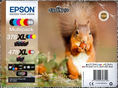 Epson C13T379D4010 Original Tintenpatronen Pack of 6 - Photo Pack Tinte