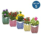 #10: TrustBasket Premium Colorful Stripe Grow Bags