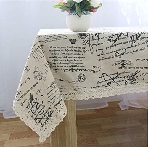 Cubierta de la mesa de comedor Manteles mantel mesa Tower Mantel decorativo Mantel Rectangular C, 120x140cm