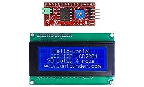 SunFounder IIC I2C TWI Serial 2004 20x4 LCD Module Shield for Arduino Uno Mega2560
