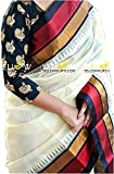 Sarees ( Shreeji Ethnic Sarees Collection sarees for women party wear offerr designer sarees for women latest design sarees new collection saree for women saree for women party wear saree for women in Latest Saree With Designer Blouse Free Size Beautiful Saree For Women Party Wear Offer Designer Sarees With Blouse Piece) (white)