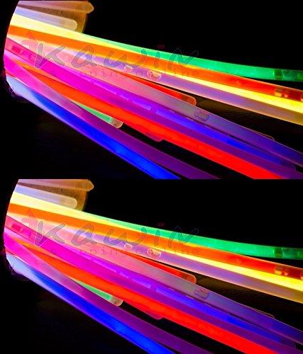 + 100 braccialetti luminosi fluo KAWIN Starlight DISCO GLOW recensioni dei consumatori