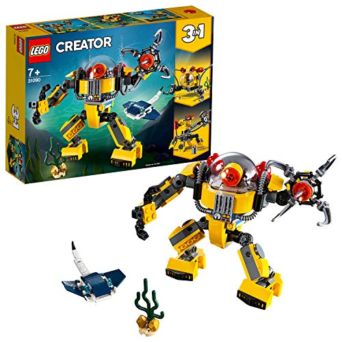 LEGO 31090 Creator 3-in-1 Underwater Robot Building Kit, Colourful Best Price and Cheapest