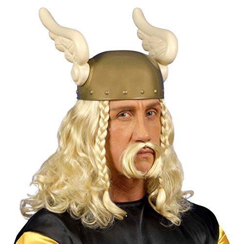 NET TOYS Blonde Asterix Perücke der Gallier Karnevalsperücke Faschingsperücke Herrenperücke blond Kostüm Zubehör Accessoire (Asterix Der Gallier Kostüm)