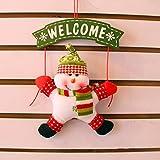 CDELEC 1 STÜCK Willkommen Karte Nette Mode Neue Anhänger Weihnachtsschmuck Schneemann Weihnachtsmann Weihnachten Tür Hängen Ornamente (Grün)