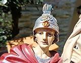 50 - 55 cm ÖLBAUM - PREMIUM - Heiligenfigur Heiliger Florian, mit Wasserkanne und Speer, Schutzpatron der Feuerwehr, der Bäcker, Kaminkehrer / Rauchfangkehrer, Töpfer, Bierbrauer und aller Feuerwehrleute - alle ÖLBAUM HEILIGEN- und Krippenfiguren zeichnen sich durch extrem sauber gearbeitete und präzise Gesichtszüge der Figuren aus, coloriertes Holzfiguren- bzw. Echtholzimitat, schlanke Form, standfeste Figuren