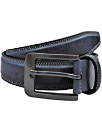 POLO INTL Men's Leather Belt (Sky Blue, 30 inches)