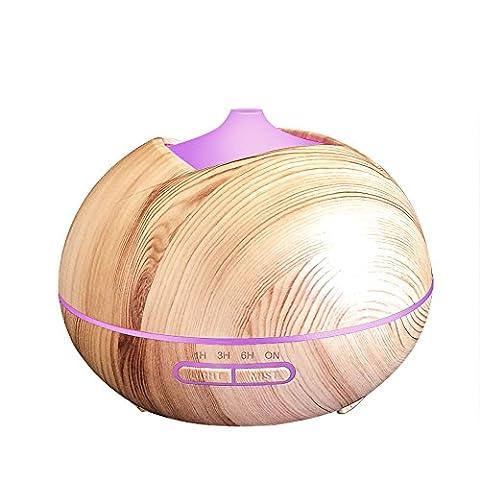 Aroma Diffusers Luftbefeuchtung Holzmaserung 7 Farben LED Automatisch Öl Luftbefeuchter Aromatherapie fürs Haus Schlafzimmer Büro