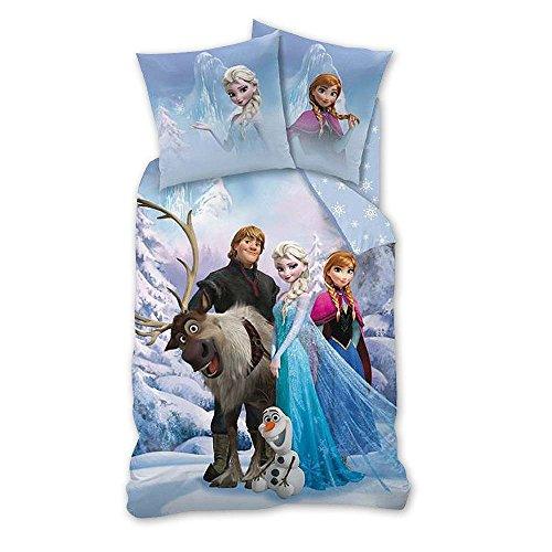 Disney Frozen - niños Ropa de cama Juego de cama reversible Linon Sven 80/80 x 135/200cm