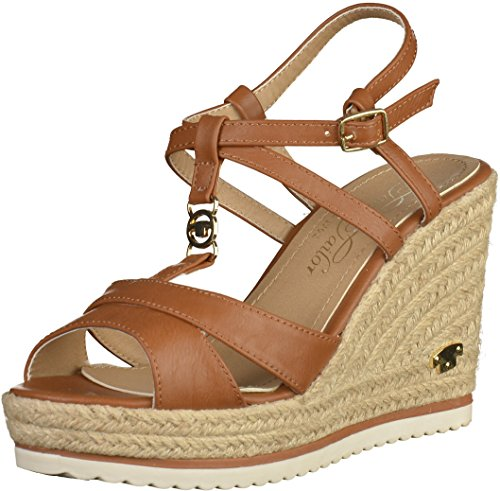 Tom Tailor 279021100 Damen Sandalen Camel, EU 39