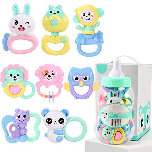 WYNZYSGWJ Kann Beißen Gekochte Beißring Rassel, Baby Toy Puzzle Baby 0-1 3-6-12 Monate Beißring Rassel (Farbe : A)