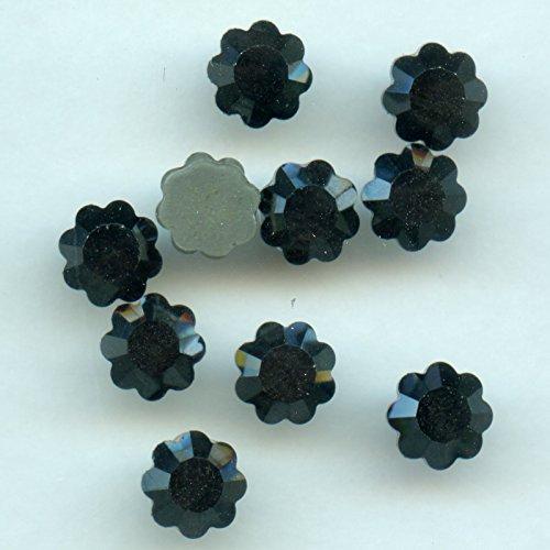 2712ss34h hf * * * 15strass fiore swarovski fondo piatto hotfix (termoadesivi) 7,15mm jet hematite