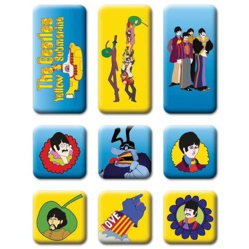Yellow Submarine 9pce Fridge Magnet Set - Beatles Yellow Submarine Magnet