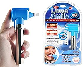 ShoppoWorld Tooth Polisher Whitener Stain Remover with LED Light Luma Smile Rubber Cups