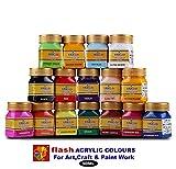 #1: Flash Acrylic Colour Set (16 Colours ) 50 ML