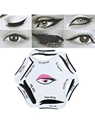 NALATI 1pc Stencils For Perfect Cat Eyeliner And Smoky Eyes Makeup Tool … (6 IN 1)