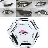 NALATI 6 in 1 Schablonen für perfekte Katze Eyeliner und Smokey Augen Make-up Werkzeug - weich
